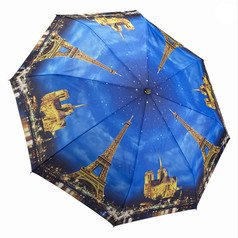 "Galleria Folding 48"" Umbrella, Paris - City of Lights"