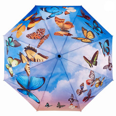 "Galleria Folding 48"" Umbrella - Swirling Butterflies"