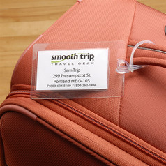 Smooth Trip Self-Laminating Luggage Tags - 4-Pack - Clear