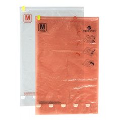 Eagle Creek Pack-It Compression Sac Set, M/M - Clear/Flame Orange