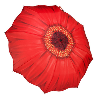 "Galleria Folding 48"" Umbrella - Red Daisy"