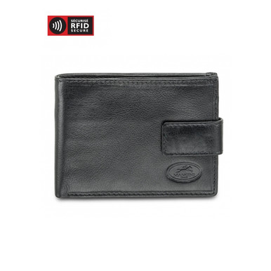 Mancini Equestrian 2 - Men's Wallet w/ Coin Purse (RFID) - Black