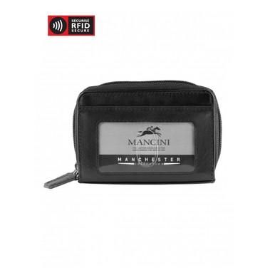 Mancini Manchester Accordian Credit Card Case (RFID) - Black