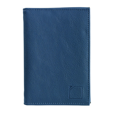 Lewis N Clark RFID-Blocking Leather Passport Case - Blue