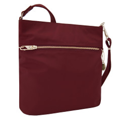 Travelon Anti-Theft Tailored N/S Slim Bag - Garnet
