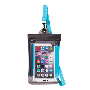 Travelon Waterproof Smart Phone/Digital Camera Pouch - Blue