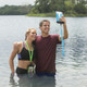 Travelon Waterproof Smart Phone/Digital Camera Pouch - Blue & Green
