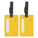 Travelon Set of 2 Luggage Tags - Neon Yellow