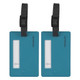 Travelon Set of 2 Luggage Tags - Aqua