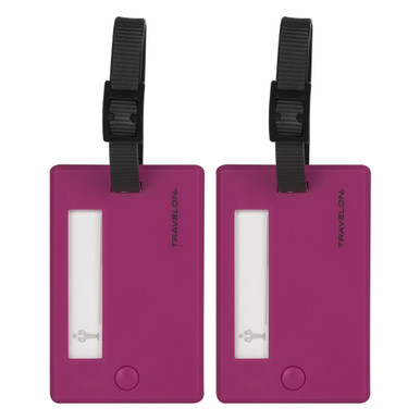 Travelon Set of 2 Luggage Tags - Berry