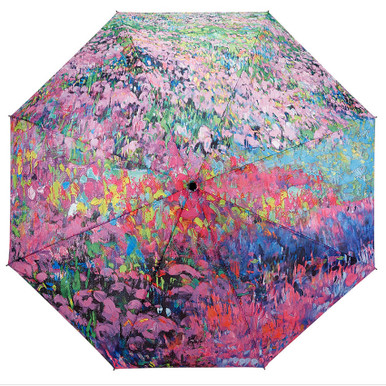 "Galleria Folding 48"" Umbrella - Garden Symphony"