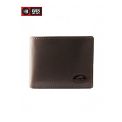 Mancini Manchester Men's Secure Wallet w/ Coin Pocket (RFID) - Brown