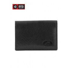 Mancini Manchester Men's Secure Expandable Credit Card Case (RFID) - Black