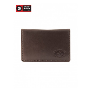 Mancini Manchester Men's Secure Expandable Credit Card Case (RFID) - Brown