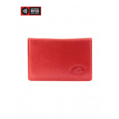 Mancini Manchester Men's Secure Expandable Credit Card Case (RFID) - Red