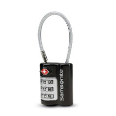 Samsonite 3-Dial TSA Cable Lock - Black