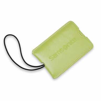 Samsonite 2 Pack Vinyl ID Tags - Vivid Green