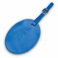 Samsonite Large Oval Vinyl ID Tag - Fantasy Blue