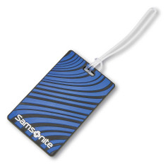 Samsonite Luggage ID Tags - Blue Fantasy Stripe