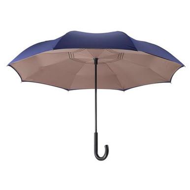 Reverse Stick Umbrella - Navy/Camel