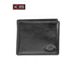Mancini Equestrian 2 Men's Center Wing Wallet w/ Coin Pocket (RFID) - Black