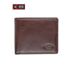 Mancini Equestrian 2 Men's Center Wing Wallet w/ Coin Pocket (RFID) - Brown