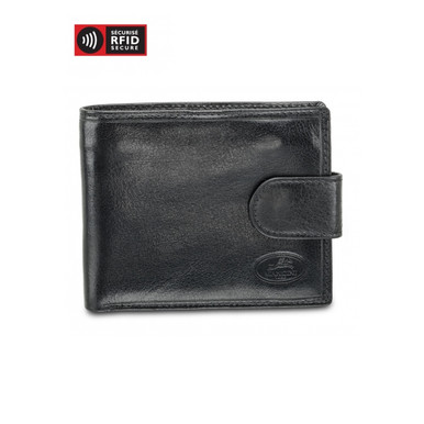 Mancini Equestrian 2 - Deluxe Men's Wallet w/ Coin Pocket (RFID) - Black