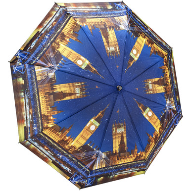 "Galleria Folding 48"" Umbrella - London at Night"