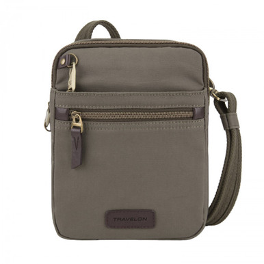 Travelon Anti-Theft Courier Small N/S Slim - Stone Gray