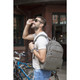 Travelon Anti-Theft Courier Slim Backpack - Stone Gray