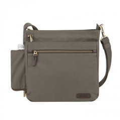 Travelon Anti-Theft Courier N/S Crossbody - Stone Gray