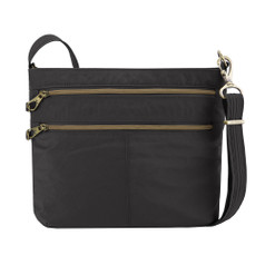 Travelon Anti-Theft Signature Double Zip Crossbody - Black