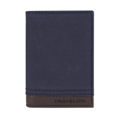 Travelon RFID Blocking Courier Slim Wallet - Navy