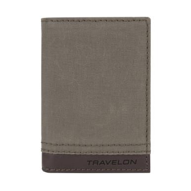 Travelon RFID Blocking Courier Slim Wallet - Stone Gray