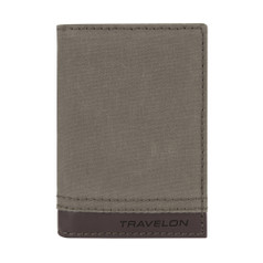 Travelon RFID Blocking Courier Slim Wallet - Stone Gray