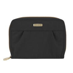 Travelon Signature Pleated Passport Wallet - Black