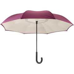 "Galleria 48"" Reverse Stick Umbrella - Purple/Cream"