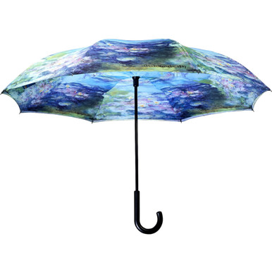 "Galleria 48"" Reverse Stick Umbrella - Monet's Water Lillies"