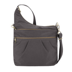 Travelon Anti-Theft Signature 3 Compartment Crossbody - Smoke