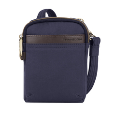 Travelon Anti-Theft Courier Mini Crossbody - Navy