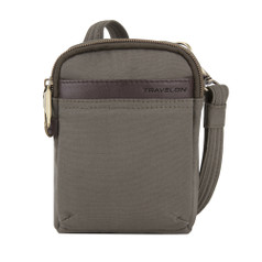 Travelon Anti-Theft Courier Mini Crossbody - Stone Gray