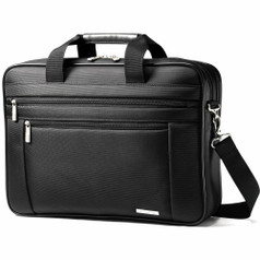 "Samsonite Classic Business 2 Gusset Briefcase PFT (15.6"") - Black"