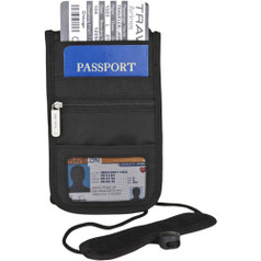 Travelon RFID Classic Deluxe Boarding Pouch - Black