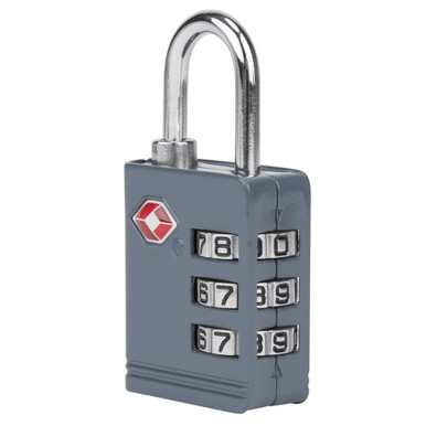 Travelon TSA Accepted Luggage Lock - Slate