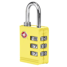 Travelon TSA Accepted Luggage Lock - Yellow