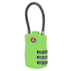 Travelon TSA Accepted Cable Lock - Green