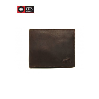 Mancini Buffalo Men's Classic Billfold With Removable Passcase (RFID) - Brown