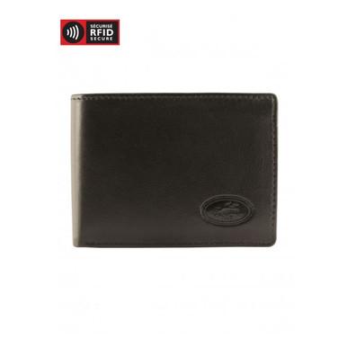 Mancini Manchester Men's I.D. Card Wallet (RFID) - Black