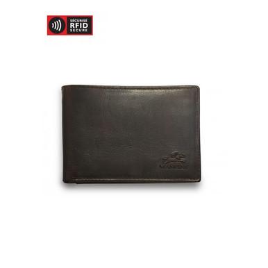 Mancini Buffalo Men's Slim Wallet (RFID) - Brown