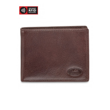 Mancini Equestrian 2 Men's Classic Billfold Wallet (RFID) - Brown